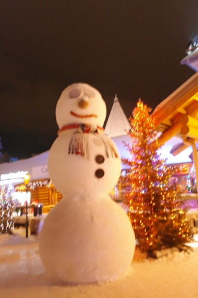 Giant snowman in Lapland