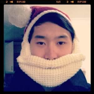 Santa hat with beard!