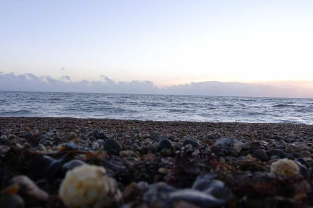 Brighton Beach, Pebbles and Sea