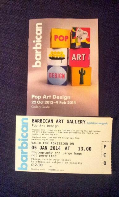 Pop Art Design exhibition - The Barbican Centre