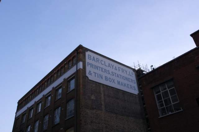 Barclay and Fry sign, Southwark, London