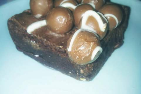 Malteser Brownie - Bad Brownie