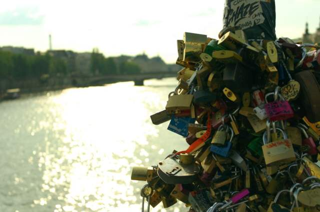 Lock locks, Seine River, Paris