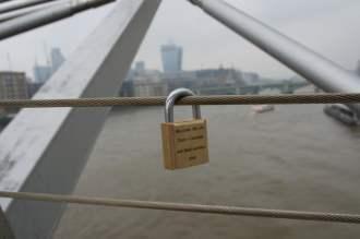 Love locks on Millennium Bridge, London (4)