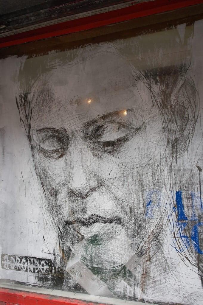 Face in window, Hanbury Street