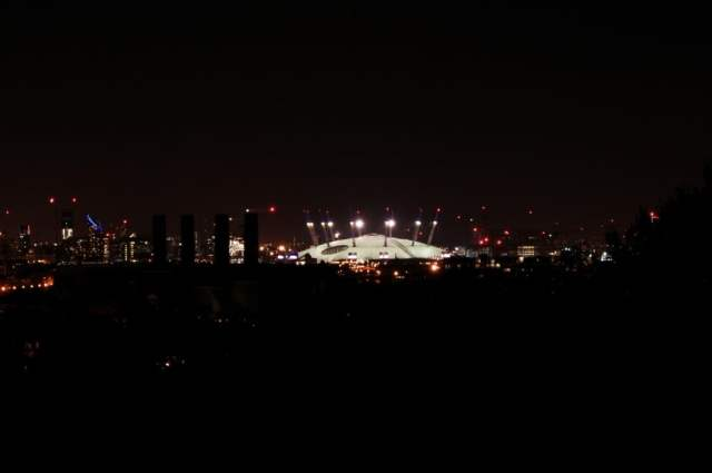 o2 Arena, Greenwich Park - hilltop view