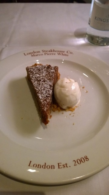 Pecan pie dessert - Marco Pierre White Steak and Alehouse restaurant