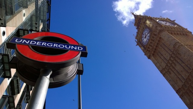 Underground sign and Big Ben