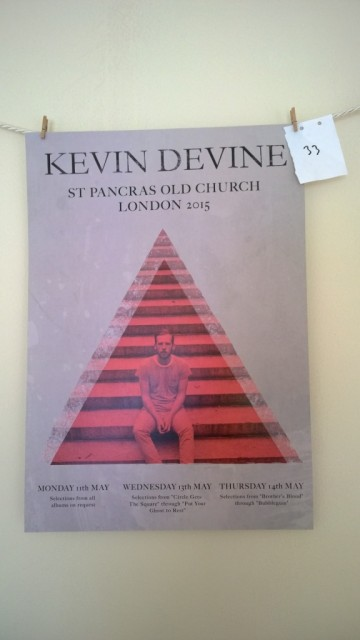 Kevin Devine UK tour St Pancras church poster