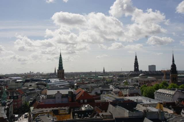 Copenhagen view from Round Tower