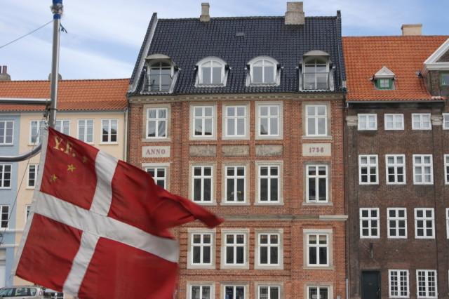 Nyhavn, Copenhagen flag