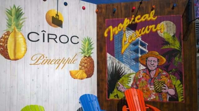 Ciroc pineapple London Riviera pop up Riverside