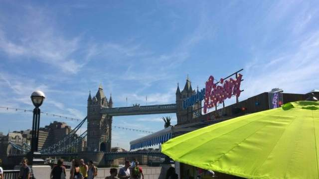 Tower Bridge London Riviera pop up Southbank