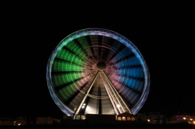 Brighton ferris wheel pier