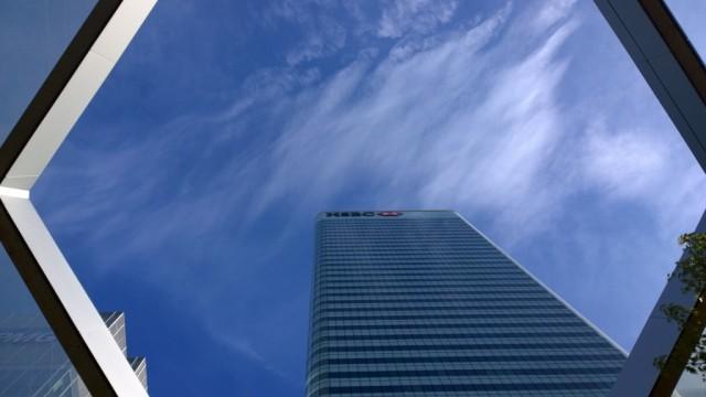 HSBC building Canary Wharf Crossrail garden