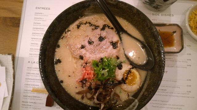 Tonkotsu Ramen Muga Restaurant London