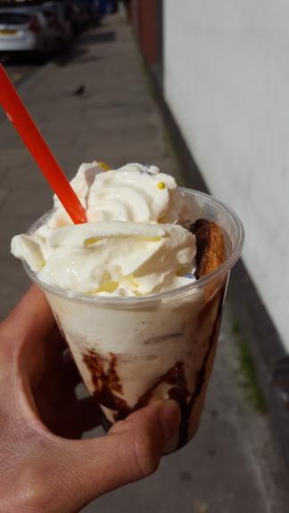 Jaffa cake milkshake - Original Crispy co