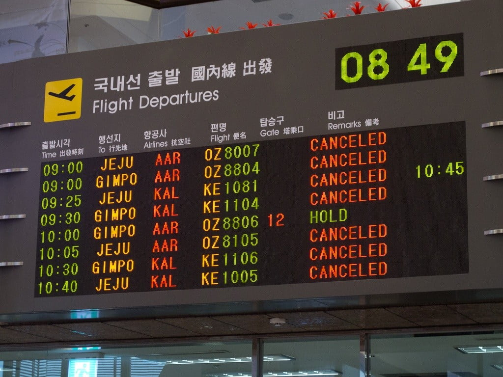 flights departure board photo