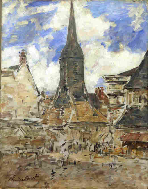 Painting of Honfleur by Monet