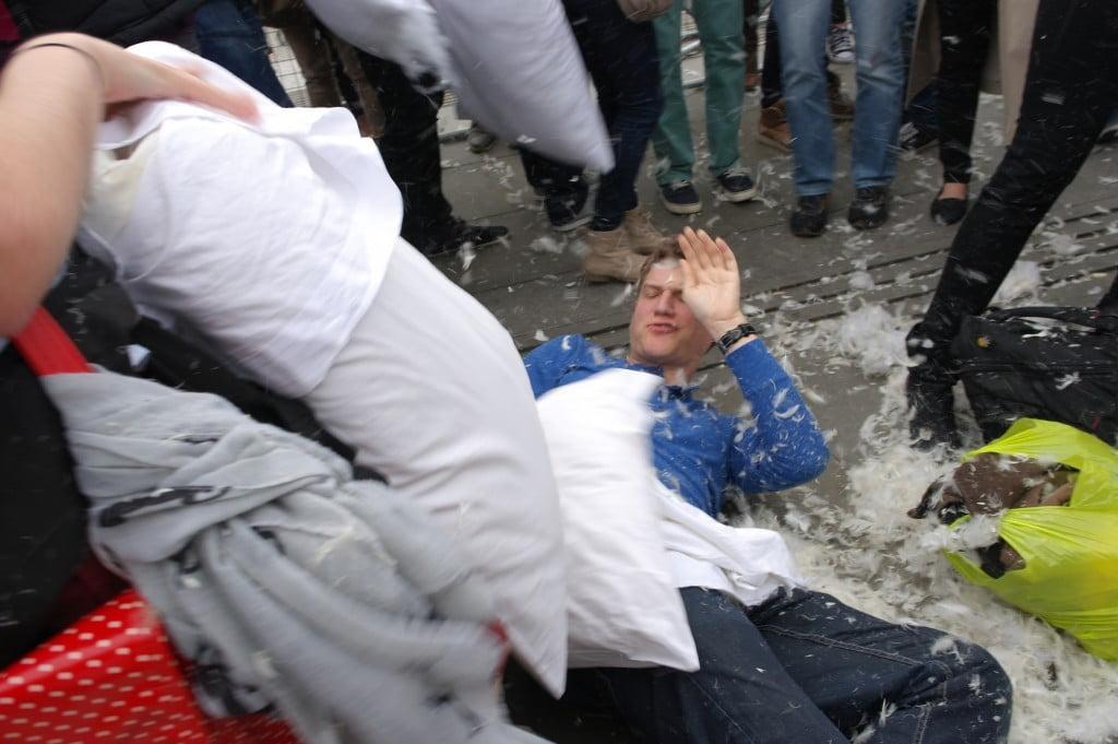 Photos: International Pillow Fight Day 2014, Trafalgar Square 14