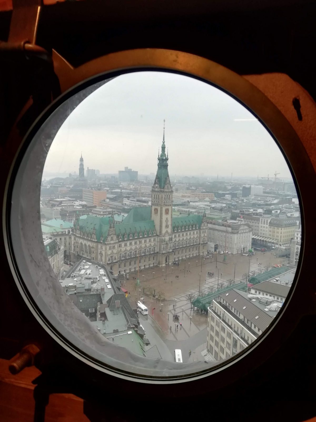City hall View From St. Peter's Church, Hamburg
