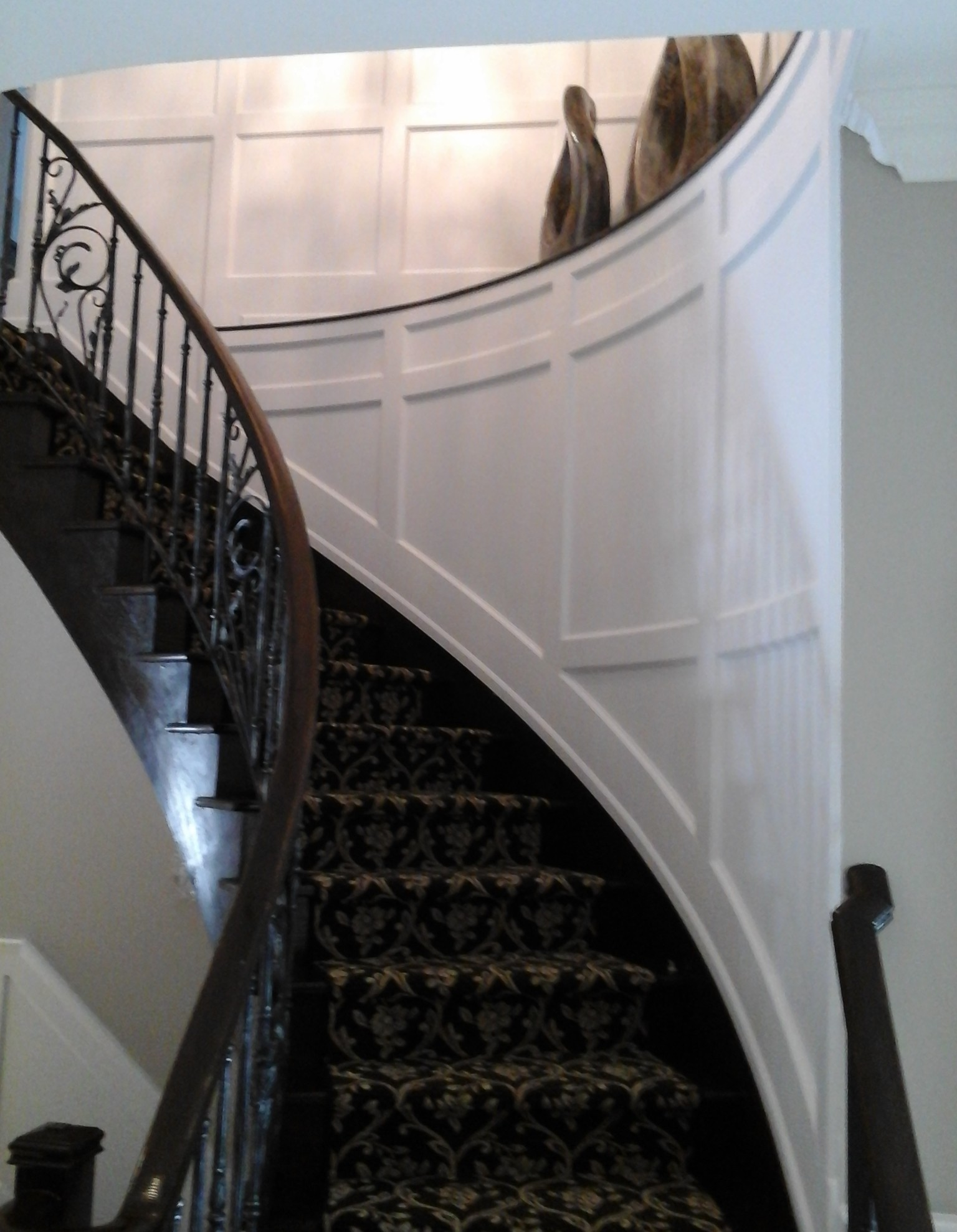 Recessed Wall Paneled Flexible Stair Kit I Elite Trimworks