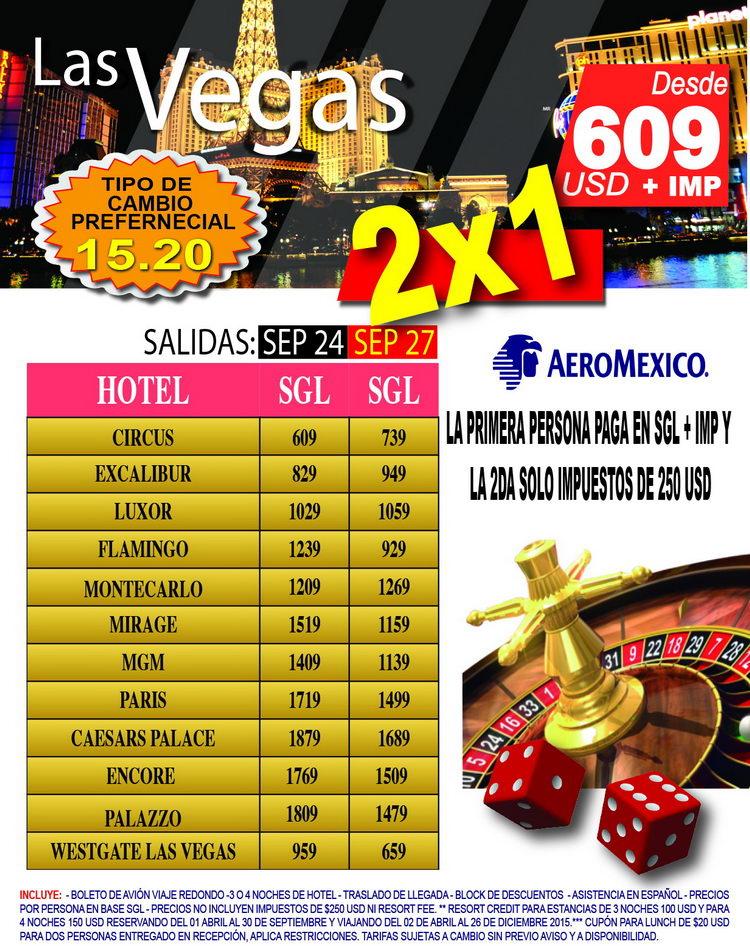 Las Vegas desde DF 2x1