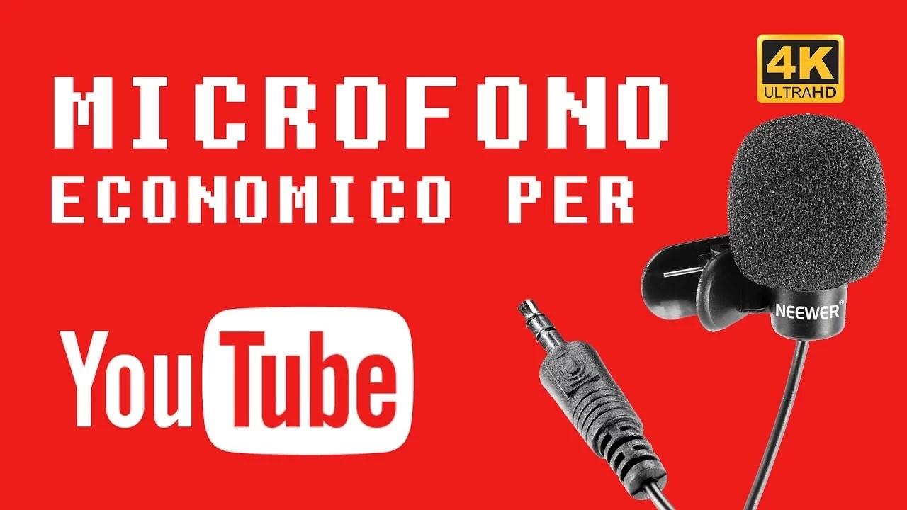 Microfono economico per YouTube – Recensione e test Neewer Lavalier | 4K