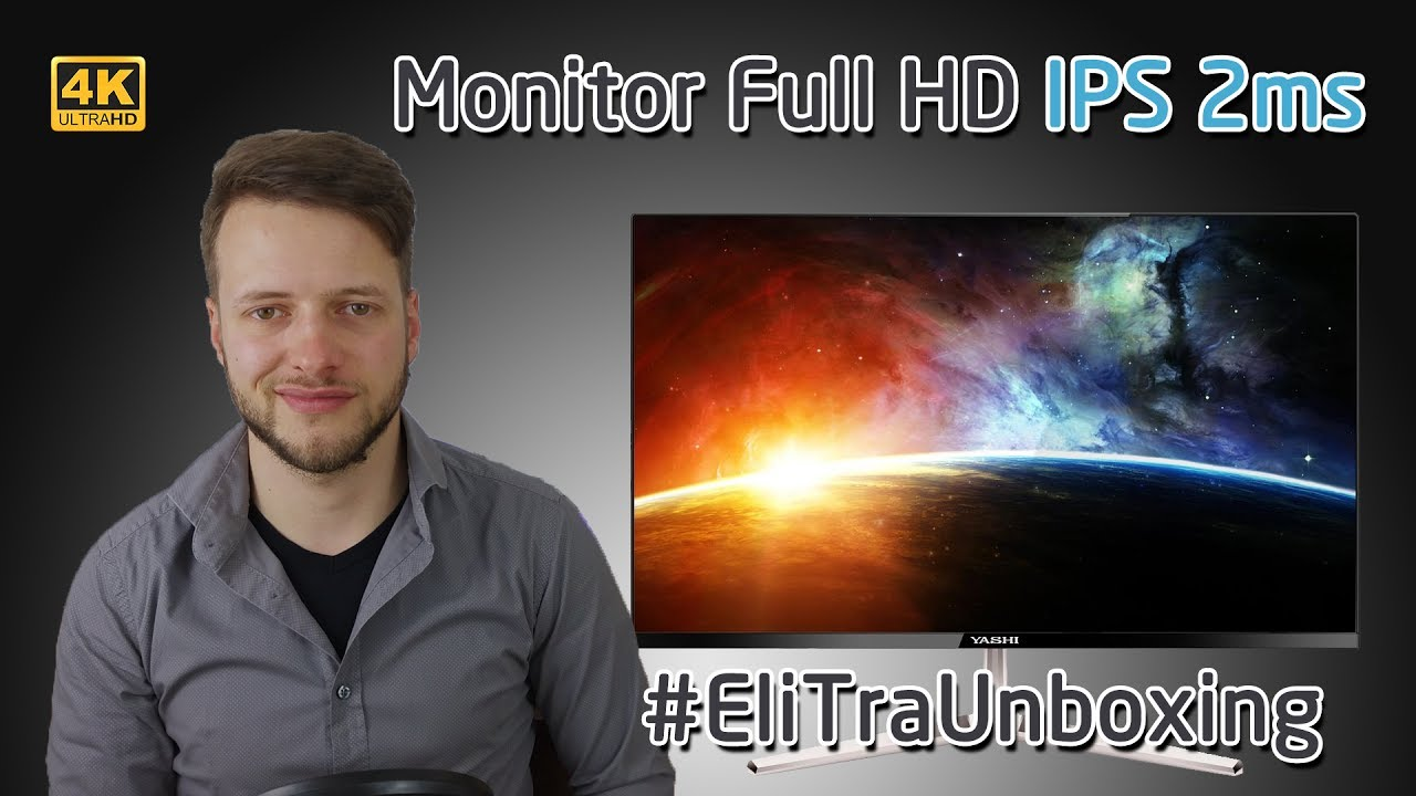 Monitor 24″ Full HD IPS 2ms – Gaming e Lavoro – Yashi YZ2407 | 4K