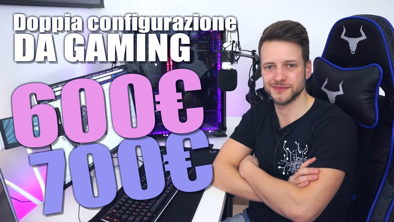 PC da gaming 600€ e 700€ –  FULL HD PURO