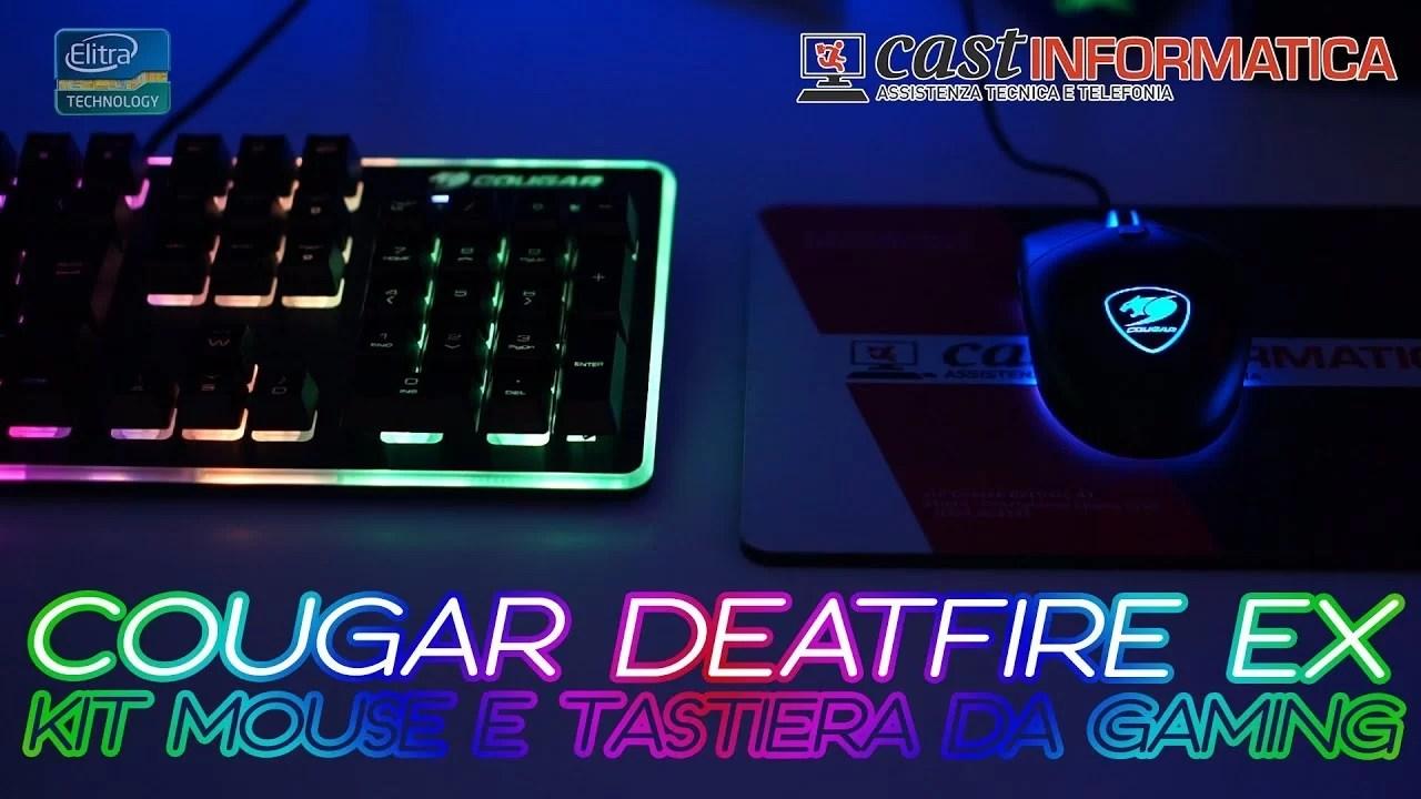 Kit Mouse e Tastiera da gaming A-RGB – COUGAR DEATHFIRE EX