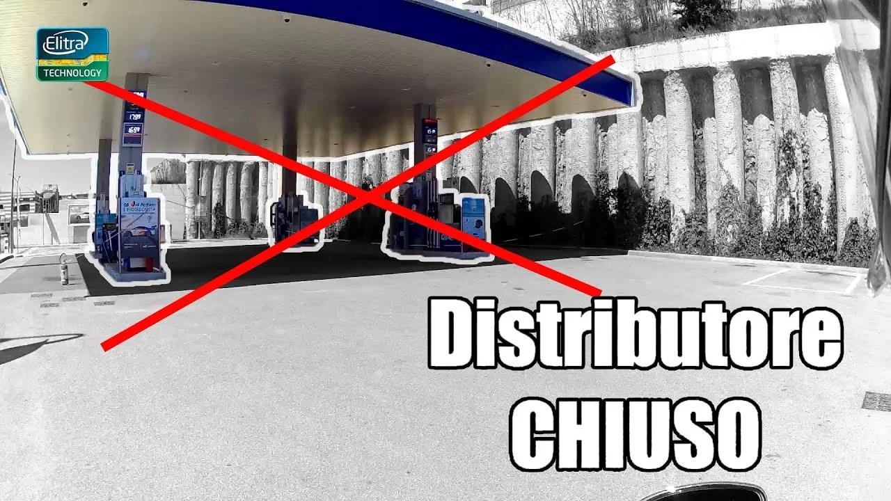 Sono a RISERVA ed il distributore è CHIUSO
