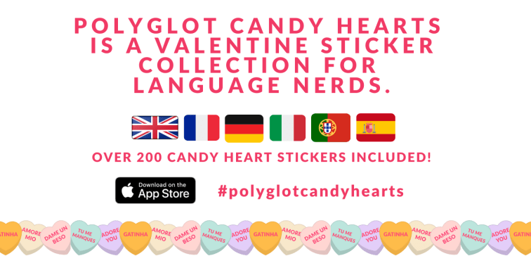 POLYGLOT CANDY HEARTS VALENTINES FOR LANGUAGE NERDS