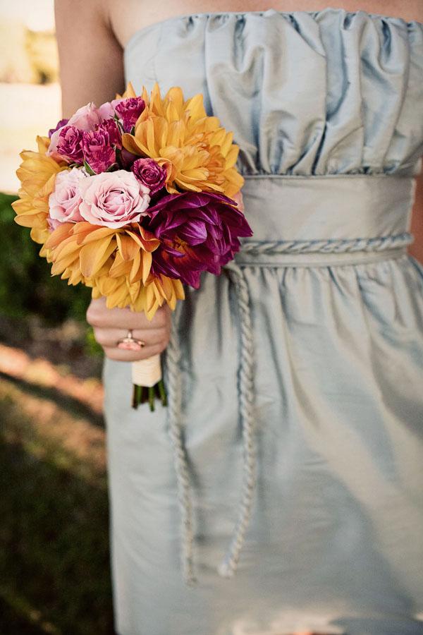 Pink Yellow And Gray DIY Wedding At The Callaway Winery