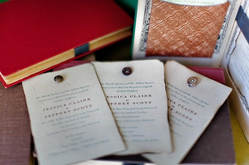 Vine Letterpress Wedding Invitation