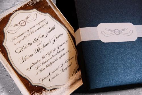 Hockey Inspired Wedding Invitations 2