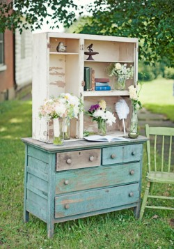 Vintage Dresser Wedding Decor