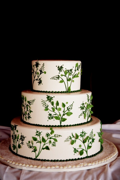 Green And White Wedding Cake Honeymoon Sweets Elizabeth