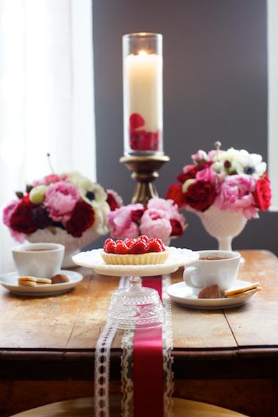 Valentines Day Ribbon Tabletop