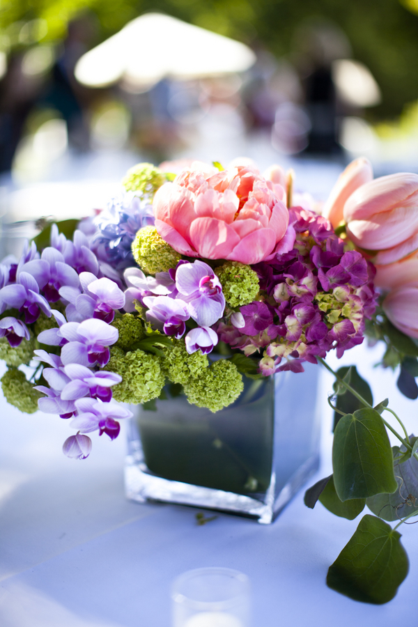 Green And Purple Table Setting
