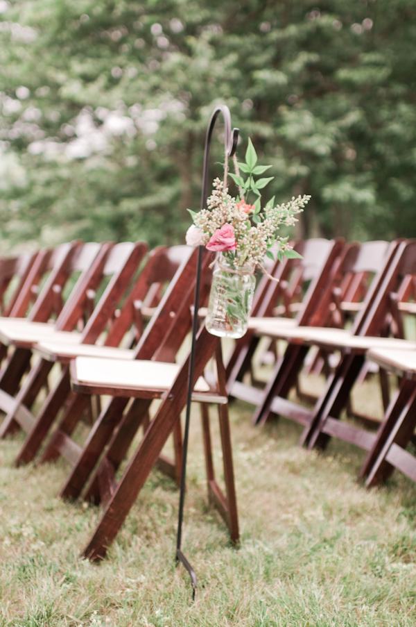 Outdoor Wedding Ceremony Aisle Decor Elizabeth Anne