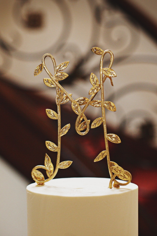 Gold Leaf Cake Topper Elizabeth Anne Designs The