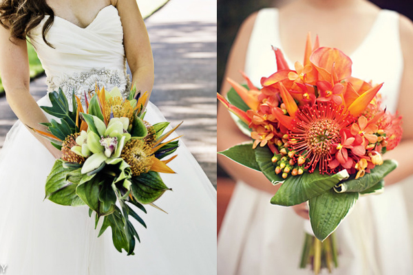 Bright And Tropical Wedding Bouquets Elizabeth Anne