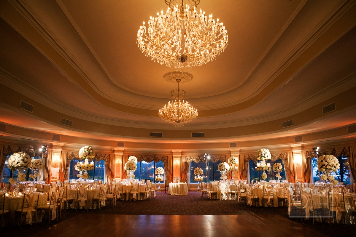 Cream And Gold Ballroom Reception Decor Elizabeth Anne