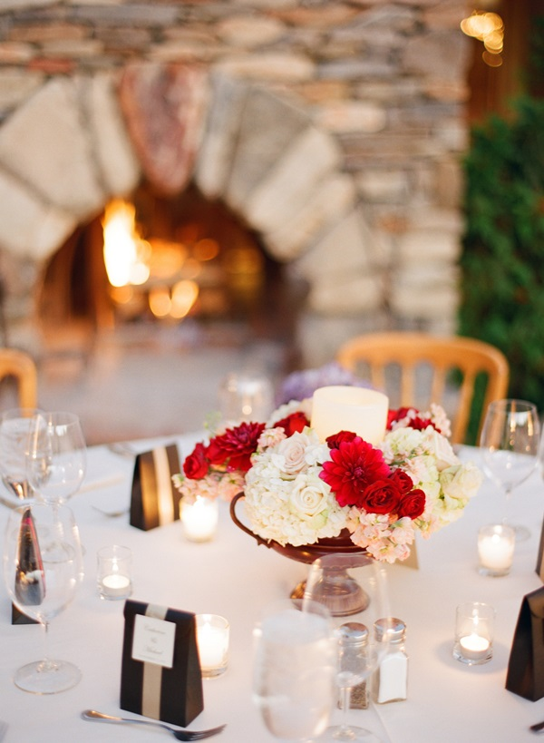 Elegant Red And White Centerpieces Elizabeth Anne