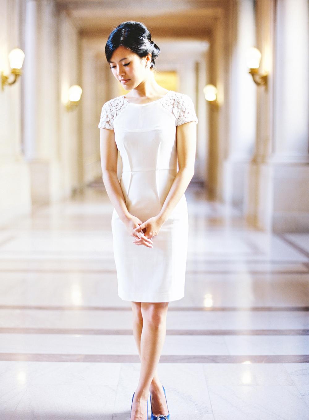 Short Casual Bridal Dress Elizabeth Anne Designs The