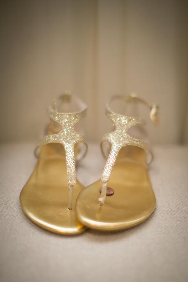 Gold Glitter Bridal Sandals Elizabeth Anne Designs The