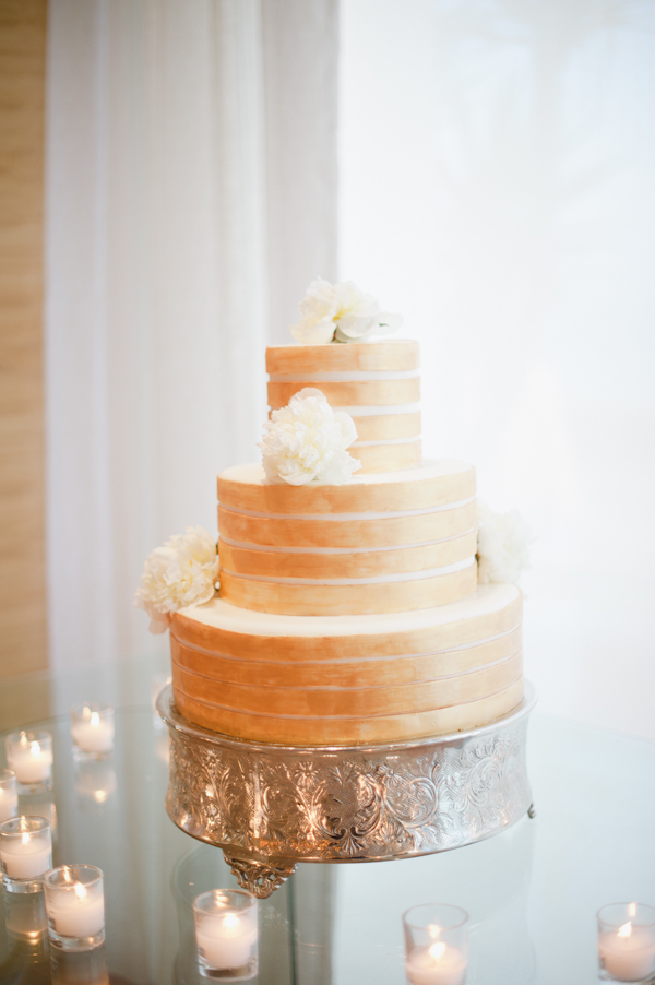 Peach Gold Wedding Cake Elizabeth Anne Designs The