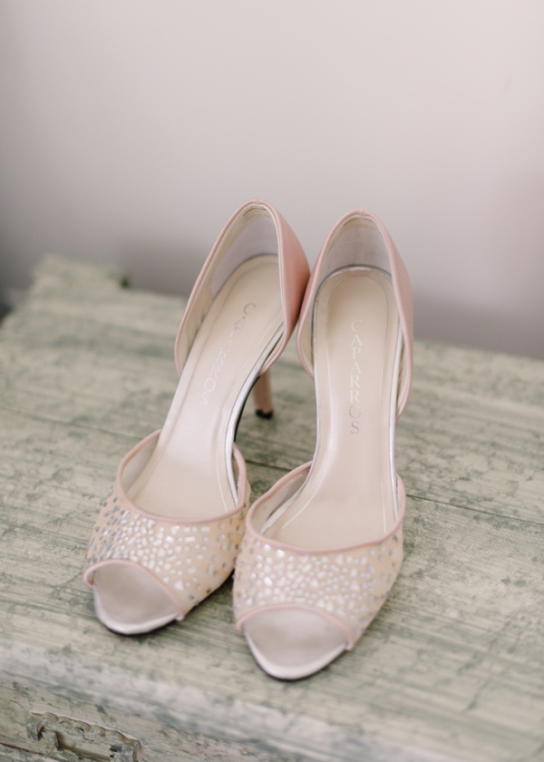 Blush Peep Toe Bridal Shoes Elizabeth Anne Designs The