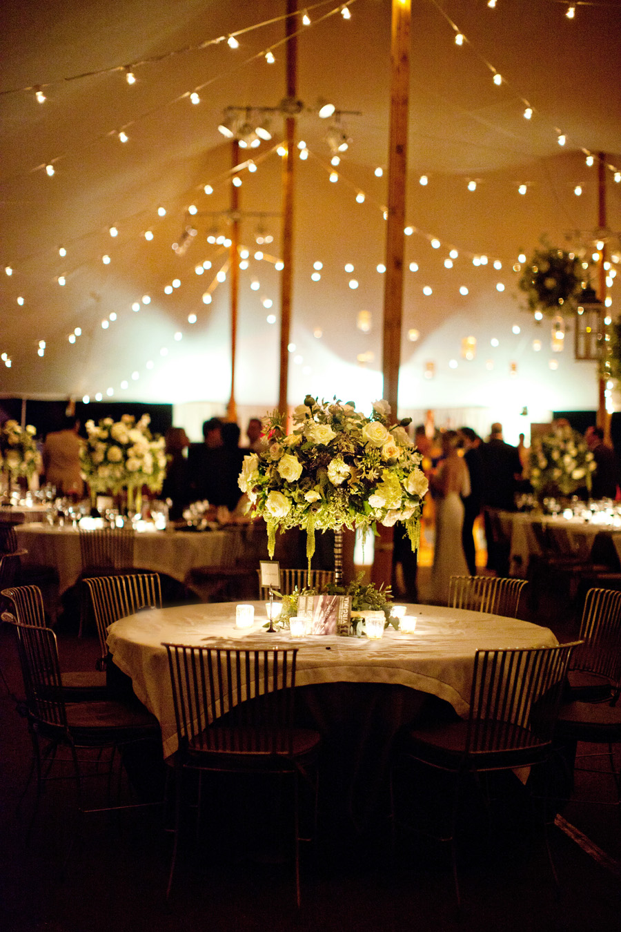 Tent Reception String Lights Elizabeth Anne Designs The